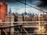 Instants of NY Series - View of Downtown Manhattan from the Brooklyn Bridge Photographic Print by Philippe Hugonnard
