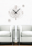 Time Swirl Clock Wall Decal Autocollant mural