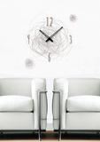 Time Swirl Clock Wall Decal Kalkomania ścienna