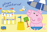Peppa Pig - Seaside Adventure (Spanish) Print