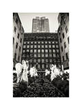 Rockefeller Center and 5th Ave Views with Christmas Decoration at Nightfall Photographic Print by Philippe Hugonnard
