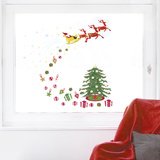 Rustic Christmas Window Sticker Decal Naklejka na okno