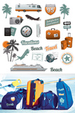 Summer Vacations Travel Stickers Stickers