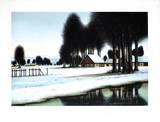 La rivière sous la neige Limited Edition by Jacques Deperthes
