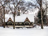 Wood House Snowy Winter in Central Park New York City Photographic Print by Philippe Hugonnard