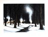 Neige Sous les Arbres 限定版アートプリント : ジャック・Deperthes