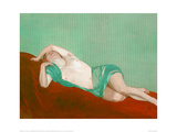 Reclining Nude With Green Silk Scarf Giclee Print by Félix Vallotton
