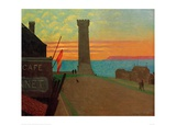 The Old Lighthouse in Honfleur Giclee Print by Félix Vallotton