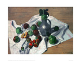 Still Life with Apples, Quinces and a Metal Jug Giclee Print by Félix Vallotton