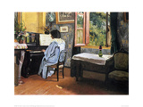 A Woman at the Piano Giclée-Druck von Félix Vallotton