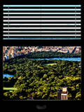 Window View with Venetian Blinds: Central Park with Upper West Side Buildings Photographic Print by Philippe Hugonnard