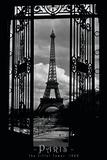 Eiffel Tower Through the Gates - Afiş