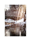 Instants of NY Series - the Gapstow Bridge of Central Park in Winter, Manhattan in New York City Photographic Print by Philippe Hugonnard