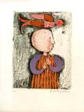 Enfant avec un oiseau V Collectable Print by Graciela Rodo Boulanger