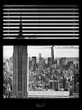 Window View with Venetian Blinds: New York Landscape Photographie par Philippe Hugonnard