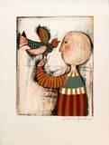 Enfant avec un oiseau IV Collectable Print by Graciela Rodo Boulanger