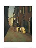 Old Street in Nice Giclée-Druck von Félix Vallotton