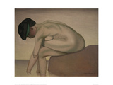 Bather Sitting on a Rock Giclee Print by Félix Vallotton