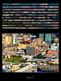 Window View with Venetian Blinds: Landscape View of Long Island City Photographic Print by Philippe Hugonnard