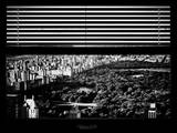 Window View with Venetian Blinds: Central Park with Upper West Side Buildings - Manhattan Photographic Print by Philippe Hugonnard
