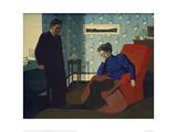 Interior With Red Armchair and Figures Giclée-Druck von Félix Vallotton
