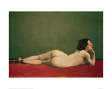 Reclining Nude on Red Giclee Print by Félix Vallotton