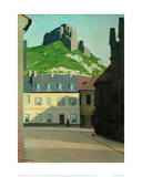 Square in Les Andelys with the Chateau Gaillard Giclée-Druck von Félix Vallotton