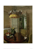 Interior Dining Room with Bouquet of Flowers Giclee Print by Félix Vallotton