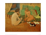 Women and Cats Giclee Print by Félix Vallotton