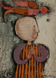 Enfant avec un oiseau I Collectable Print by Graciela Rodo Boulanger