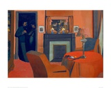 The Red Room Giclee Print by Félix Vallotton