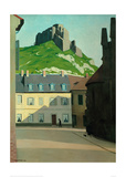 Square in Les Andelys with the Chateau Gaillard Giclee Print by Félix Vallotton