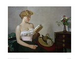 Reading Woman Giclee Print by Félix Vallotton
