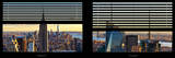Window View with Venetian Blinds: Panoramic Skyline NYC with the Empire State Building and 1WTC Photographic Print by Philippe Hugonnard