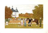Concours hippique Collectable Print by Vincent Haddelsey