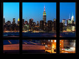 Manhattan Skyline with the Empire State Building by Night -NY Cityscape - Manhattan, New York, USA Photographic Print by Philippe Hugonnard