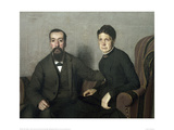 Portait of the Parents of the Artist Giclee Print by Félix Vallotton
