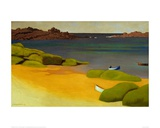 The Bay of Tregastel Giclee Print by Félix Vallotton