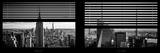 Window View with Venetian Blinds: Panoramic Skyline NYC with the Empire State Building and 1WTC Photographie par Philippe Hugonnard