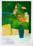 Bouquet Au Vase Vert Sammlerdrucke von René Genis