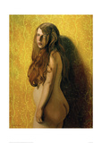 Nude on Yellow Background Giclee Print by Félix Vallotton