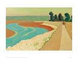 The Embankment of Honfleur Giclée-Druck von Félix Vallotton