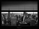 Window View with Venetian Blinds: Skyline NYC with the Empire State Building and 1WTC Photographic Print by Philippe Hugonnard
