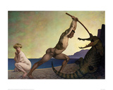 Perseus Slaying the Dragon Giclee Print by Félix Vallotton