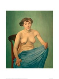 Torso with Blue Cloth Giclee Print by Félix Vallotton