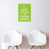 Think Green Wall Decal Wall Decal