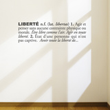 Libertfrench) Wall Decal Wall Decal