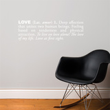 Love (english) Wall Decal Wall Decal