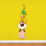 Animal Pyramid Wall Decal Wall Decal