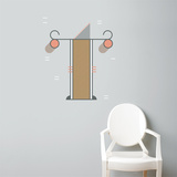 T Letter Wall Decal Wall Decal